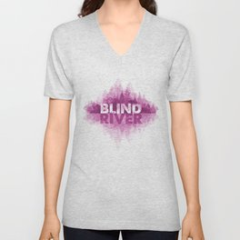 Blind River Trees (pink) Unisex V-Neck