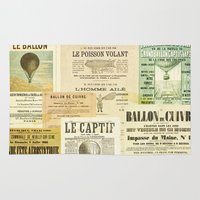 ballon Area & Throw Rugs featuring Le Ballon by Ephemera's Vintage Garden