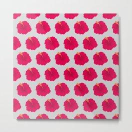 Hibiscus pattern_RA Metal Print