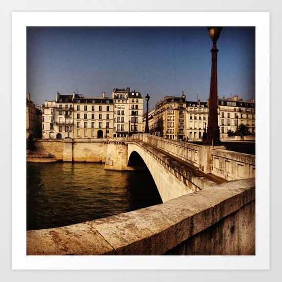 Bridges of Paris - Ile Saint Louis Art Print