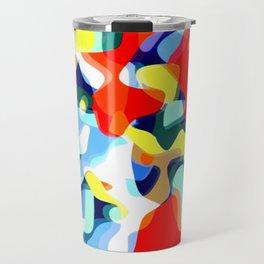 Abstract Avalanche Travel Mug