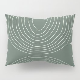 Hand drawn Geometric Lines in Forest Green 4 Pillow Sham