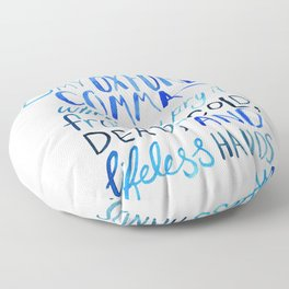 My Beloved Oxford Comma - Blue Lettering Floor Pillow
