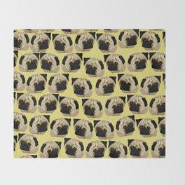 Pug Dogs Throw Blanket