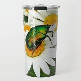 Green beetle Travel Mug