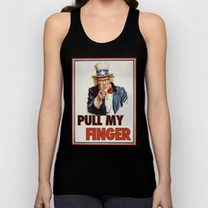 Pull my finger Unisex Tank Top