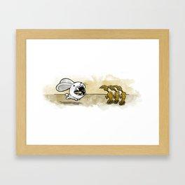 Were-Rabbit Framed Art Print