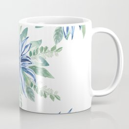 Blue & Green Full Bloom in my Garden_Hand Painted watercolour  Coffee Mug