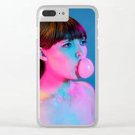 Bubblegum Yum Pop Clear iPhone Case