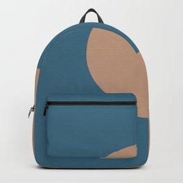Brown Dark Blue Minimal Half Circle Design 2021 Color of the Year Canyon Dusk & Bering Wave Backpack