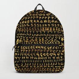 gold alphabet Backpack