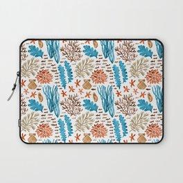 Coral Reef Watercolor Pattern- Teal Laptop Sleeve