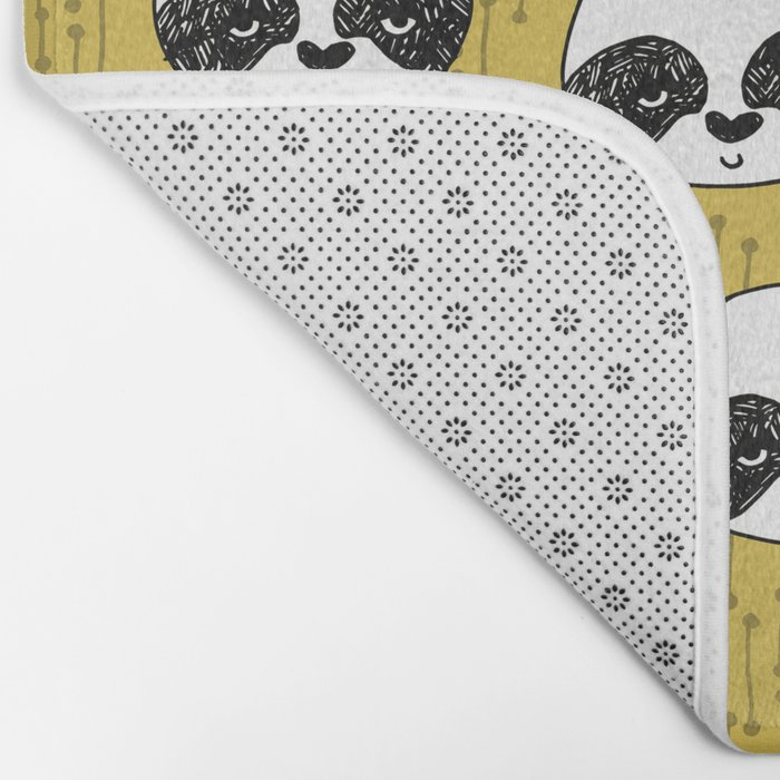 Happy Panda - by Andrea Lauren Bath Mat