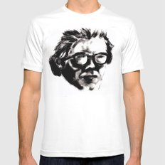 Hipster Beethoven Mens Fitted Tee White MEDIUM