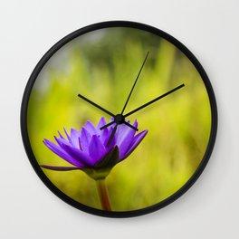 Blue Lotus, Star Lotus Wall Clock