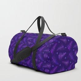 Ombré Fronds & Berries in Purple Duffle Bag