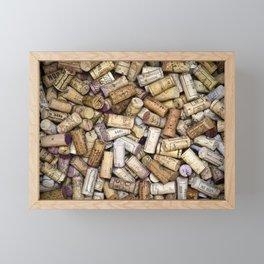 Fine Wine Corks Framed Mini Art Print