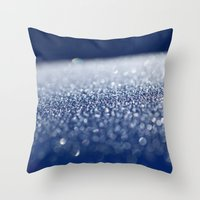 ice Throw Pillows featuring ICE by Lori Anne Photography