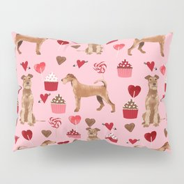 Irish Terrier dog breed valentines day love hearts pet gifts must have terriers Pillow Sham