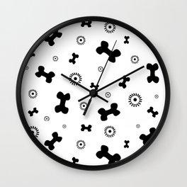 Pattern #5: Bones+Bacteria Wall Clock
