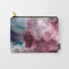 Blueberry Splash Watercolor Carry-All Pouch