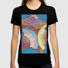 triple rainbow colalge T-shirt