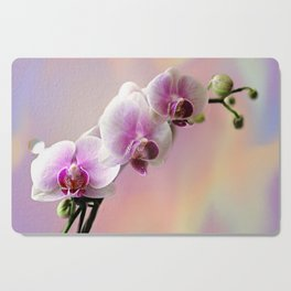 Pastel Rainbow Orchid Cutting Board