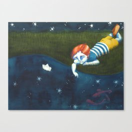 Fishes and stars Canvas Print