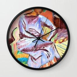 Mulatto with Turban - Digital Remastered Edition Wall Clock