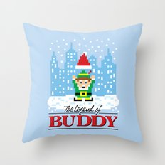 The Legend of Buddy Throw Pillow