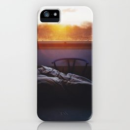 Sunset in bed iPhone Case