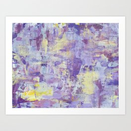 Purple + Gold Art Print