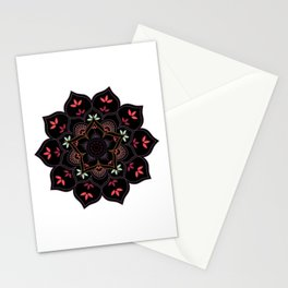 Lotus flower mandala in soft pastel colors Stationery Cards