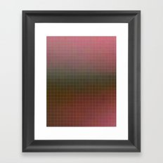 Pixels Pink & Green Framed Art Print