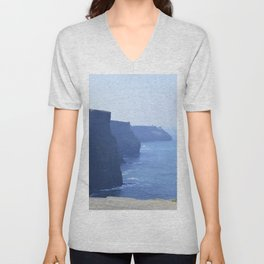 Cliffs of Moher in Ireland Unisex V-Neck