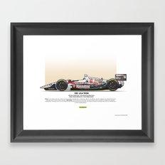 #6 LOLA - 1993 - T9300 - Andretti Framed Art Print