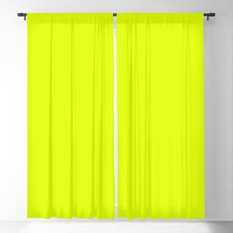 Chartreuse Yellow Solid Color Blackout Curtain