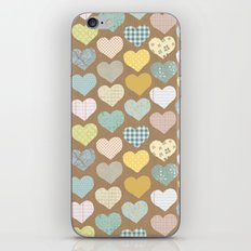 hearts pattern iPhone & iPod Skin