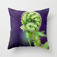 fern Throw Pillows featuring Fern by LoRo  Art & Pictures