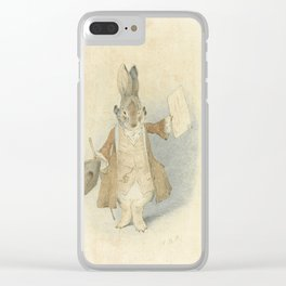 Town Crier Rabbit Clear iPhone Case