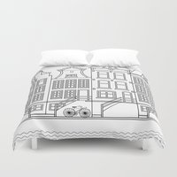 amsterdam Duvet Covers featuring AMSTERDAM by Anna Lindner