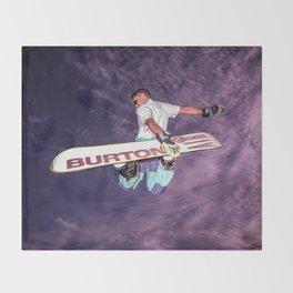 Snowboarding #2 Throw Blanket