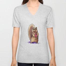 Squirrel Loves You Unisex V-Neck