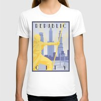 airbender T-shirts featuring Republic City Travel Poster by HenryConradTaylor