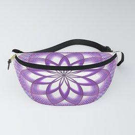Purple Lotus Flower Fanny Pack