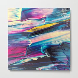 neon brush strokes Metal Print