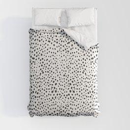 Dalmatian Spots - Black and White Polka Dots Comforters