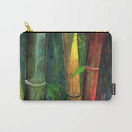 Colorful bamboo painting with gouache Carry-All Pouch