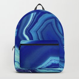 Blue colored agate Backpack