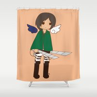 snk Shower Curtains featuring Ymir by Sir-Snellby